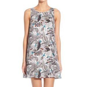 Hinge print A-line dress